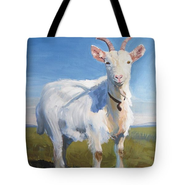 White Goat Tote Bag