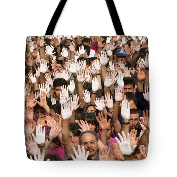 White Hands  - Manos Blancas Tote Bag by Rafa Rivas
