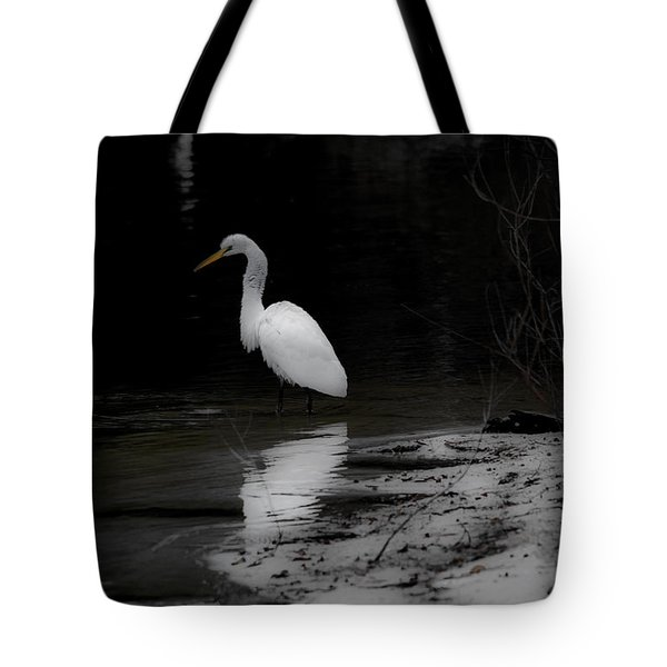 White Heron Tote Bag