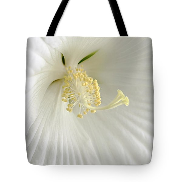 White Hibiscus Flower Marco Tote Bag