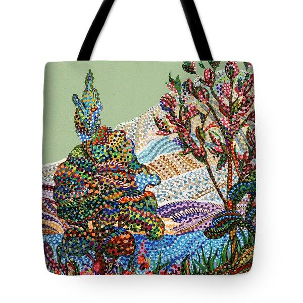 White Hills Tote Bag by Erika Pochybova