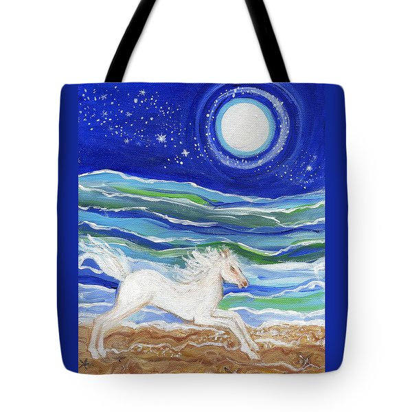 White Horse Of The Sea Tote Bag