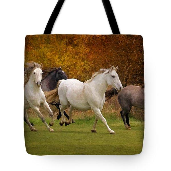 White Horse Vale Lipizzans Tote Bag