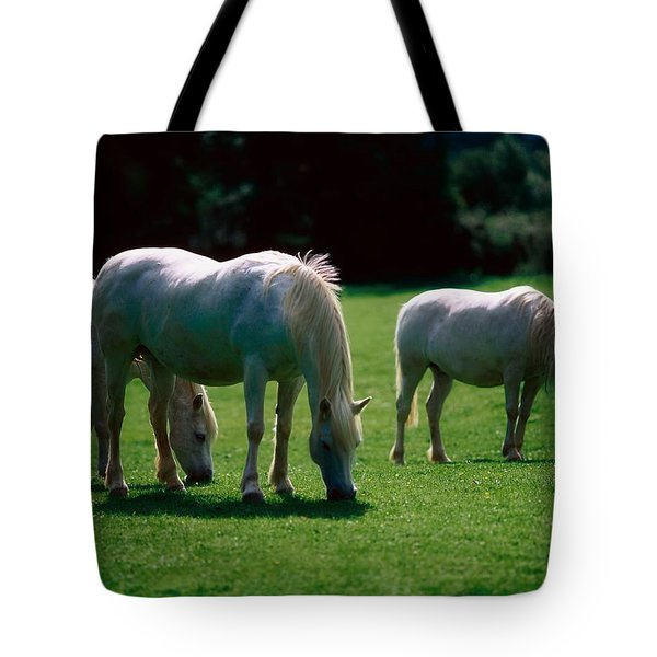 White Horses, Ireland Tote Bag by The Irish Image Collection