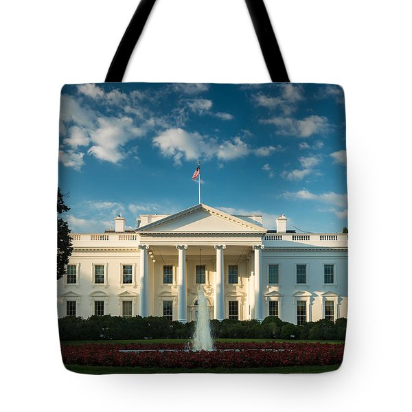White House Sunrise Tote Bag by Steve Gadomski