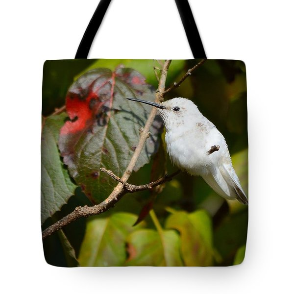 White Hummingbird Tote Bag