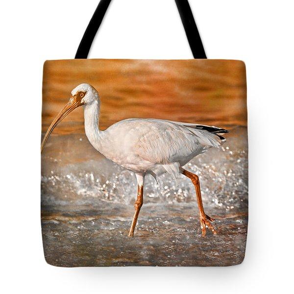 White Ibis Stroll Tote Bag