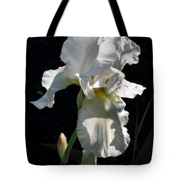 White Iris In The Morning Tote Bag