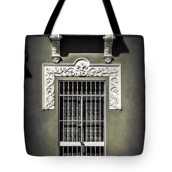 White Iron Tote Bag by Perry Webster