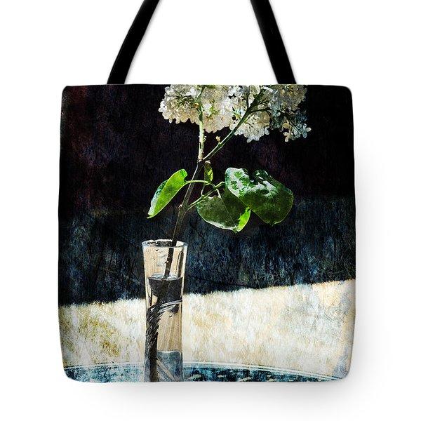 White Lilacs Tote Bag by Randi Grace Nilsberg