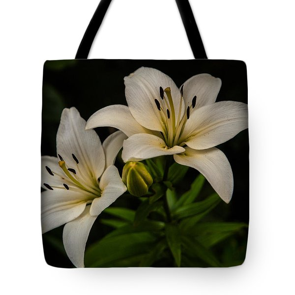 White Lilies Tote Bag by Davorin Mance
