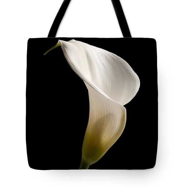 White Lily Tote Bag by Amanda Elwell