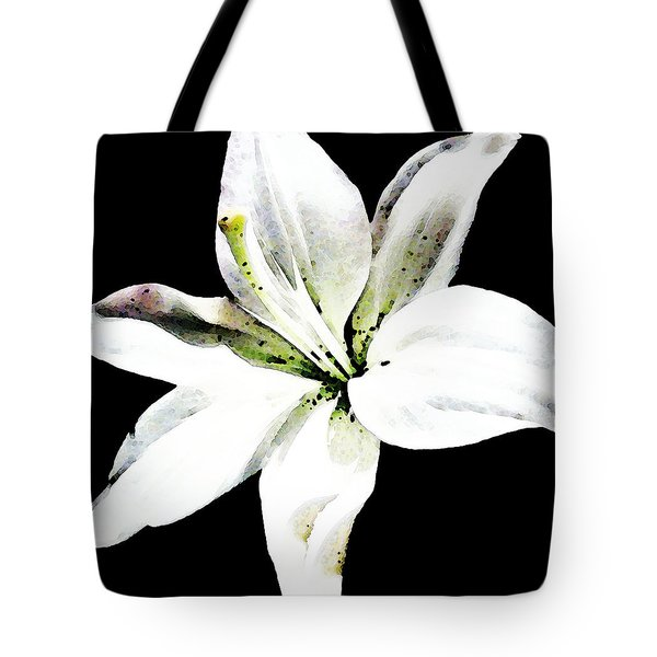White Lily - Elegant Black And White Floral Art By Sharon Cummings Tote Bag by Sharon Cummings