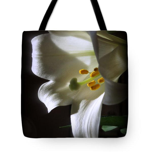 White Lily Tote Bag by Kay Novy