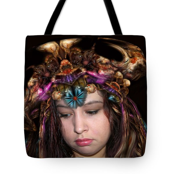 Tote Bag featuring the digital art White Meat And Bones Tiara by Otto Rapp
