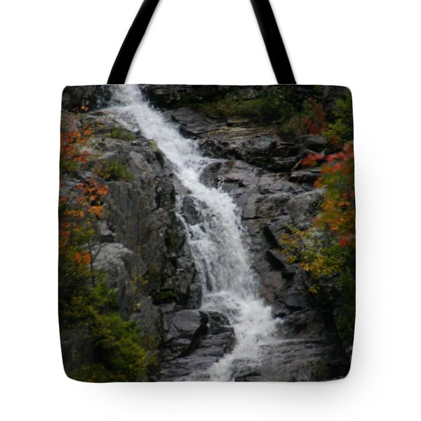 Tote Bag featuring the photograph White Mountain Water Fall  by Denyse Duhaime