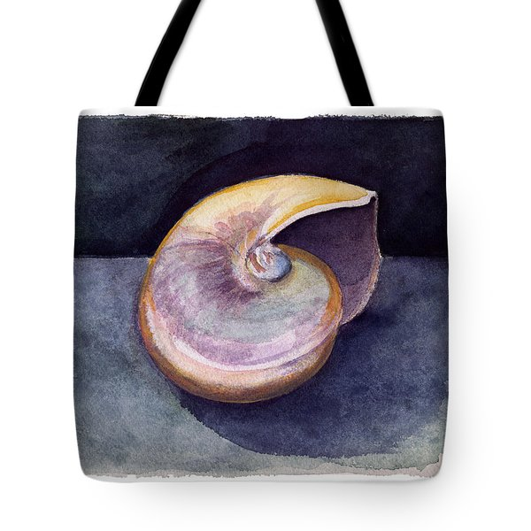White Nautilus Tote Bag
