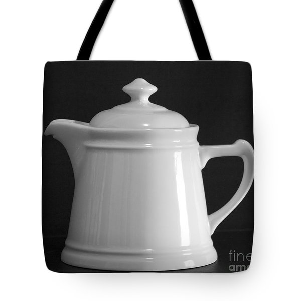 Tote Bag featuring the photograph White On Black by Victoria Harrington