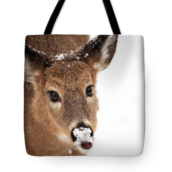 White On The Nose Tote Bag