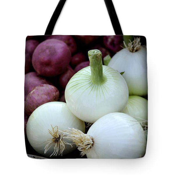 White Onions And Red Potatoes Tote Bag by Julie Palencia