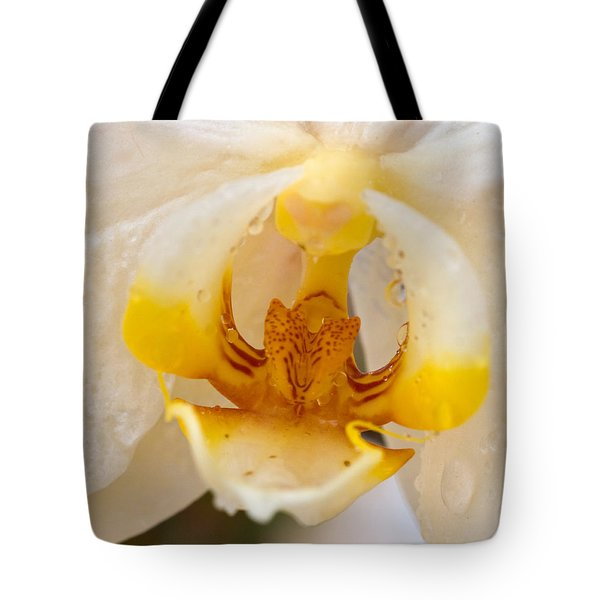 White Orchid Center Tote Bag