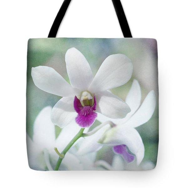 White Orchid Tote Bag by Kim Hojnacki