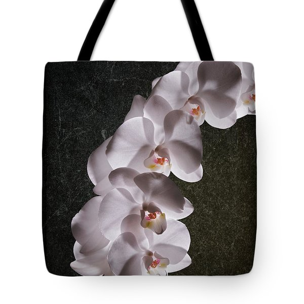 White Orchid Still Life Tote Bag