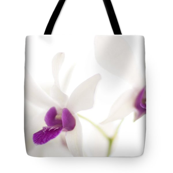 White Orchids Tote Bag by Bradley R Youngberg