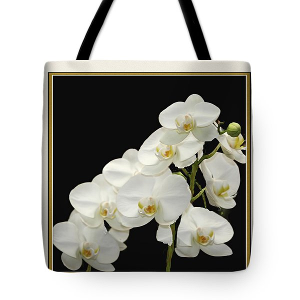 White Orchids II Tote Bag by Tom Prendergast