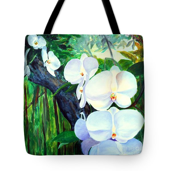 White Orchid's Tote Bag