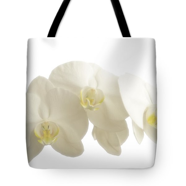White Orchids On White Tote Bag