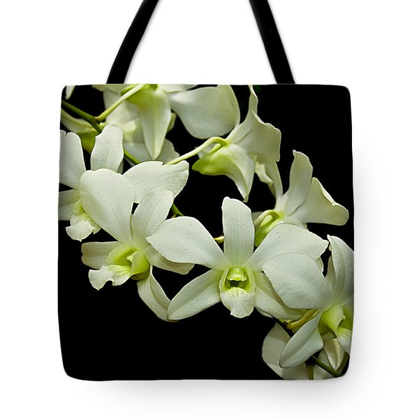 White Orchids Tote Bag by Swank Photography
