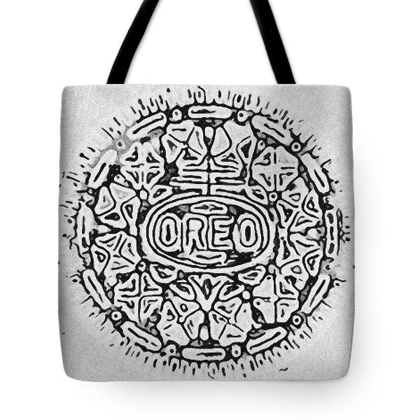 White Oreo Tote Bag