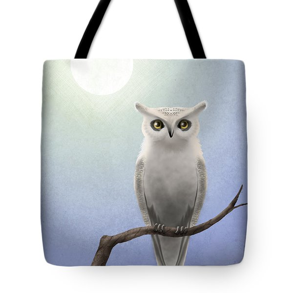 White Owl Tote Bag