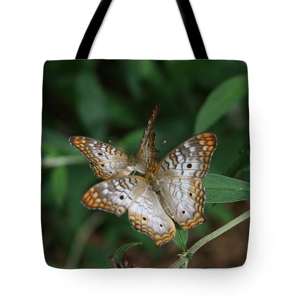 White Peacock Butterflies Tote Bag by Cathy Harper