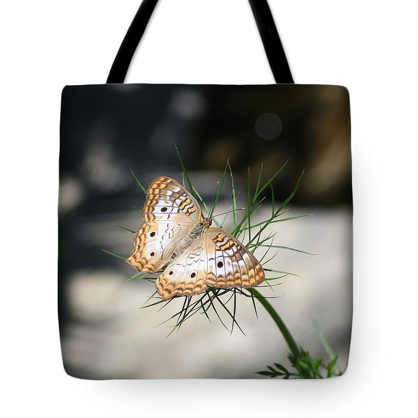 White Peacock Tote Bag