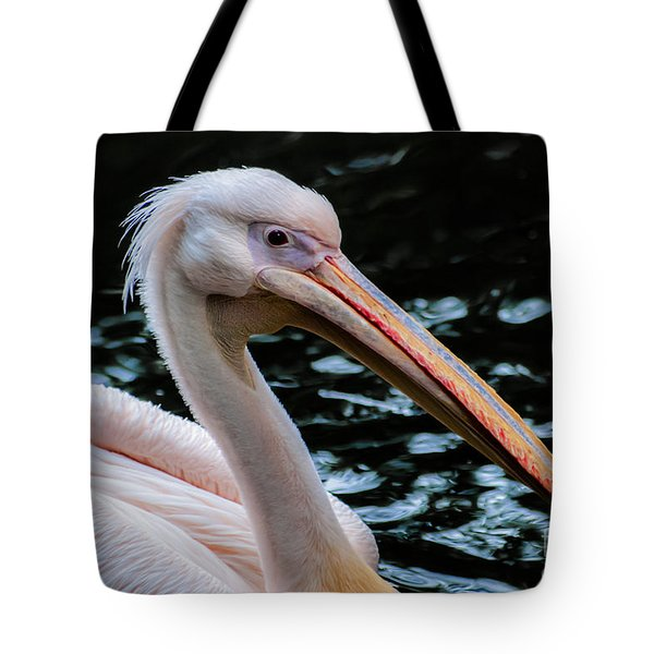 White Pelican Tote Bag by Hannes Cmarits