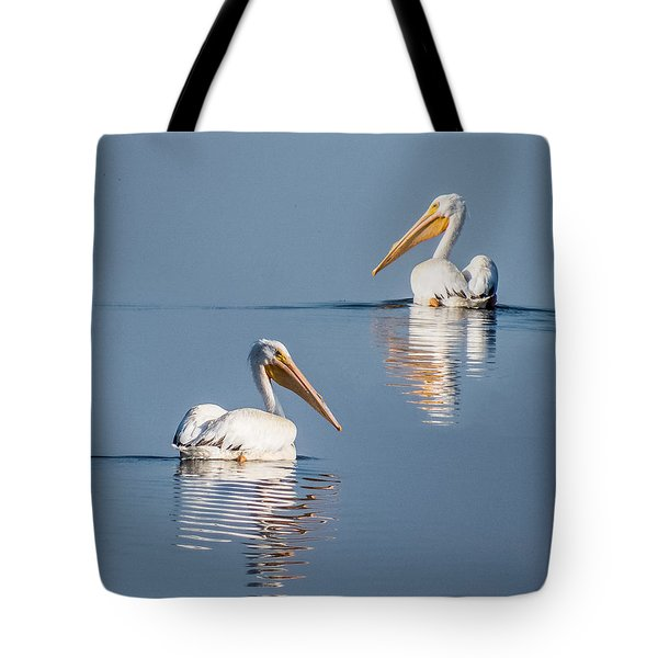 Tote Bag featuring the photograph White Pelicans by Patti Deters
