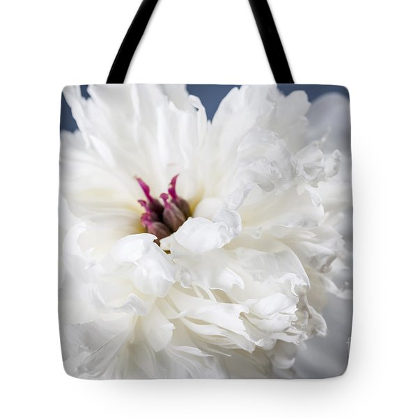 White Peony Flower  Tote Bag by Elena Elisseeva