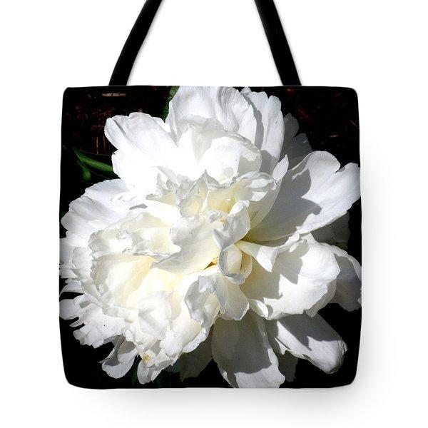 White Peony Tote Bag