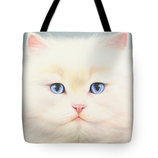 White Persian Tote Bag by Andrew Farley