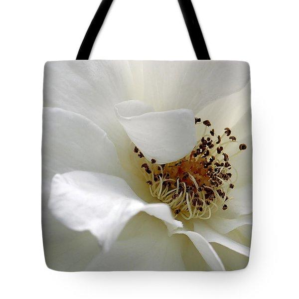 White Petals Tote Bag