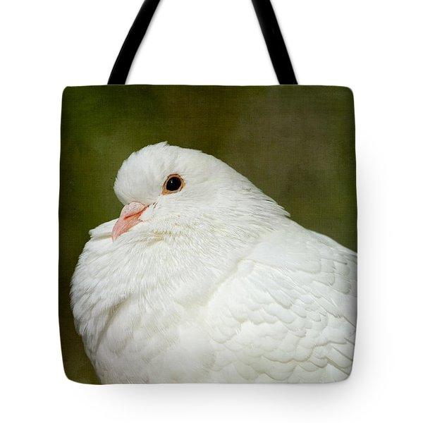 White Pigeon Tote Bag