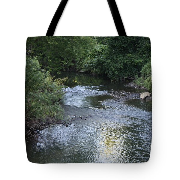 White Plains Stream Tote Bag by John Telfer