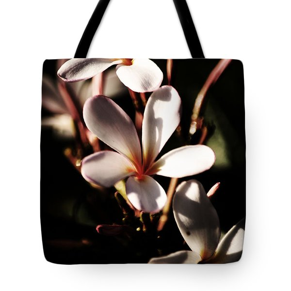 White Plumeria Tote Bag