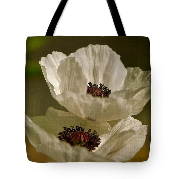 White Poppies Tote Bag