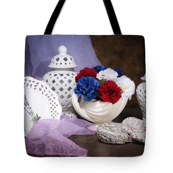 White Porcelain Still Life Tote Bag