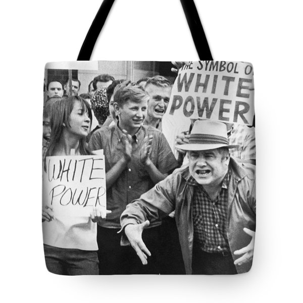 White Power Demonstrators Tote Bag