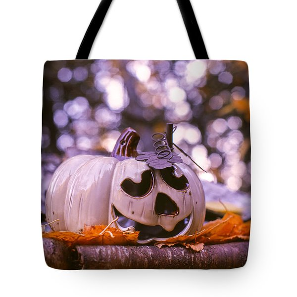 White Pumpkin Tote Bag by Aaron Aldrich