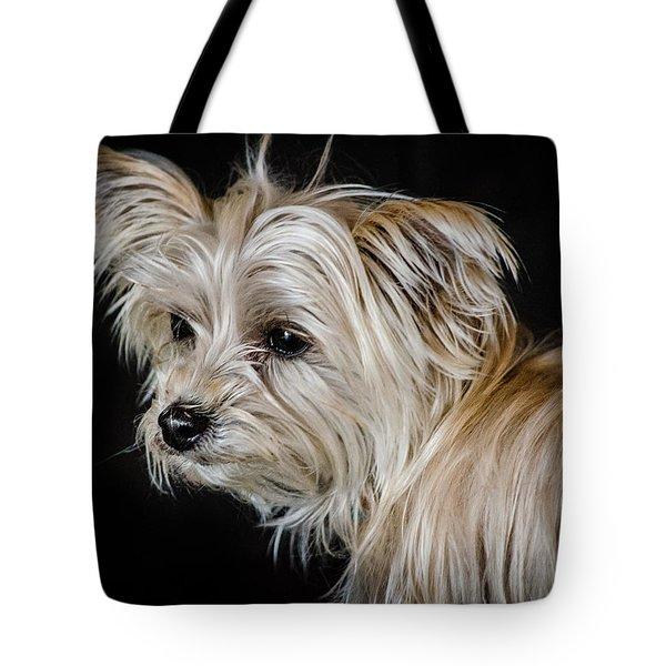 White Puppy Tote Bag
